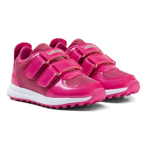Pink Patent Colorissima Velcro Trainers