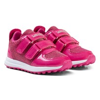 Lelli Kelly Pink Patent Colorissima Velcro Trainers with interchangable Charm Fuchsia