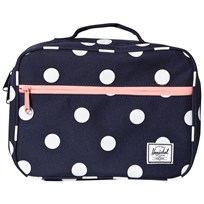 Herschel Pop Quiz Lunch Box Peacoat Polka Dot Peacoat Polka Dot/Strawberry I