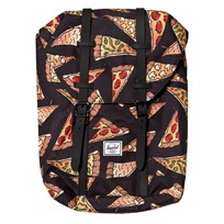 Herschel Retreat Youth Backpack Black Pizza Black Pizza