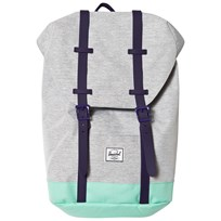 Herschel Retreat Youth Backpack Light Grey/Lucite Green Light Grey Crosshatch/Lucite G