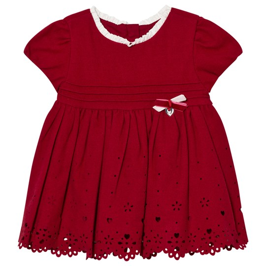 Mayoral Red Heart Embroidered Dress 28