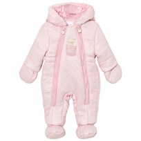 Mayoral Pink Bear Hooded Snowsuit with Detachable Mittens and Booties 93