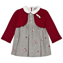 Mayoral Grey Embroidered Red Bolero Dress 93