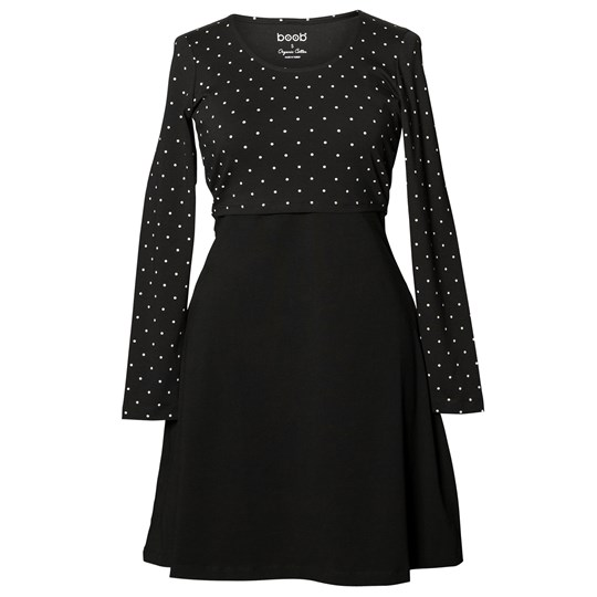Boob Dottie Dress Black/Off White Dot black/offwhite dot