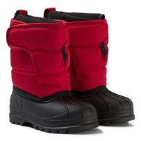 Ralph Lauren Red Hamilten II Snowboots with Red Pony Red Heavy Nylon w/ Black PP