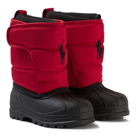 Ralph Lauren Hamilten II Vinter Stövlar Röd Red Heavy Nylon w/ Black PP