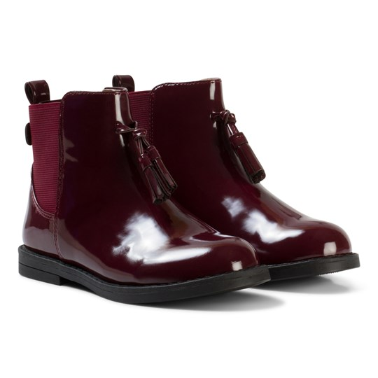 Mayoral Burgundy Patent Chelsea Boots 90