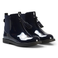 Mayoral Navy Patent Boots with Tassle Detail 91
