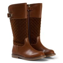 Mayoral Tan Padded Tall Boots 15