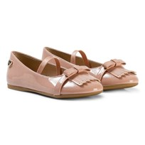 Mayoral Blush Patent Ballet Pumps wit Fringe Detail 42