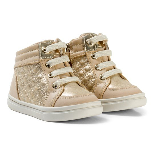 Mayoral Beige and Gold Quilted Lace Hi Tops 96