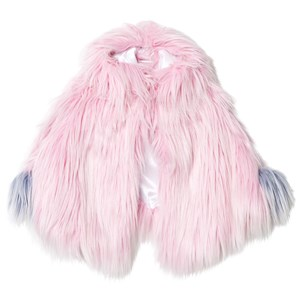 Image of Bandit`s Girl Pink Shaggy Faux Fur Pink Cape with Pom Pom M (8-9 years) (2743776811)