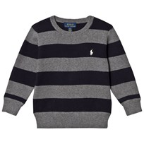 Ralph Lauren Grey/Navy Stripe Sweater 001