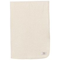 The Wool Company Lambswool Waffle Blanket White