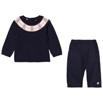 Emile et Rose Lars Navy Fairisle Top and Pants Set Navy