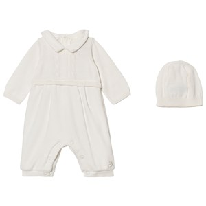 Image of Emile et Rose Langston Off White Velour One-Piece 6 months (2743760541)