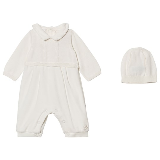 Emile et Rose Langston Off White Velour One-Piece White