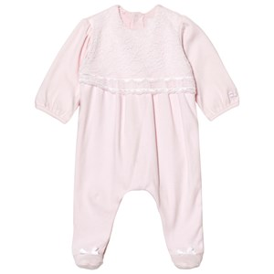 Image of Emile et Rose Louise Pink Lace Footed Baby Body 9 months (2743769833)