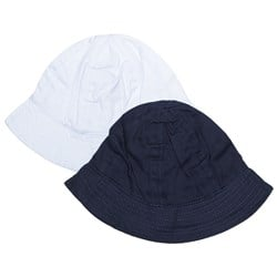 Kuling 2-Pack of Sun Hats White and Navy