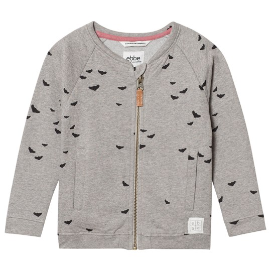ebbe Kids Fifty Bomber Sweat Jacket Black Woodpeckers Black woodpeckers
