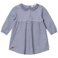 eBBe Kids Alva Dress Denim Blue Stripe Denim blue stripe
