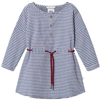 eBBe Kids Alexa Dress Denim Blue Stripe Denim blue stripe