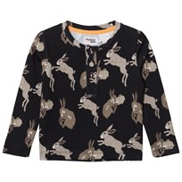 Filemon Kid Long Sleeve T-Shirt Bunnies Anthracite Anthracite