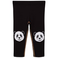 Filemon Kid Leggings Printed Knees Jet Black Jet Black