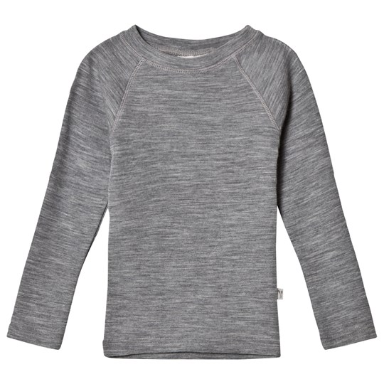 Wheat Wool Tee Grey Melange Grey