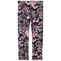 Young Versace Navy Baroque Medusa Print Leggings 3074