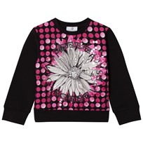 Young Versace Pink/Black Flower Medusa Sequin Sweatshirt 3100