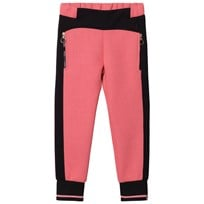Young Versace Pink and Black Neoprene Track Pants with Medusa Studs 3056