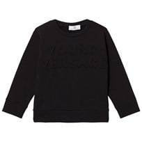 Young Versace Black Embossed Versace Sweatshirt 3448