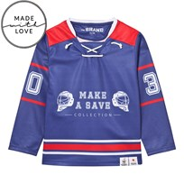 The BRAND Make A Save Hockey Jersey Red/Blue Green