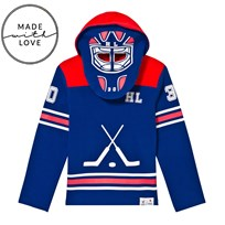 The BRAND Goalie Hoodie Red/Blue Green
