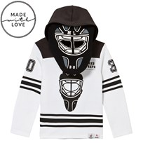 The BRAND Goalie Hoodie Black/White Black