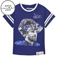 The BRAND Make A Save Short Sleeve Tee Blue Blue