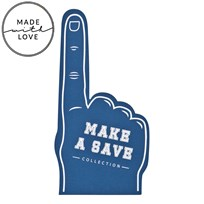 The BRAND Make A Save Foam Hand Blue