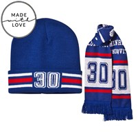 The BRAND Make A Save Scarf & Beanie Set Red/Blue Grøn