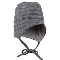 Kuling Knitted Baby Hat Grey Black