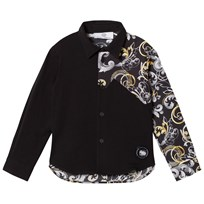 Young Versace Black Baroque Print Shirt 3307