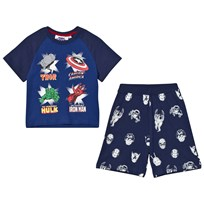 Fabric Flavours Navy Marvel Heroes Icons Pyjamas Navy