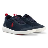 Ralph Lauren Navy Mesh Kasey Trainers Navy Mesh w. Red PP