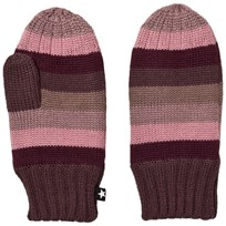 Molo Snowfall Mittens Huckleberry Stripe Huckleberry stripe