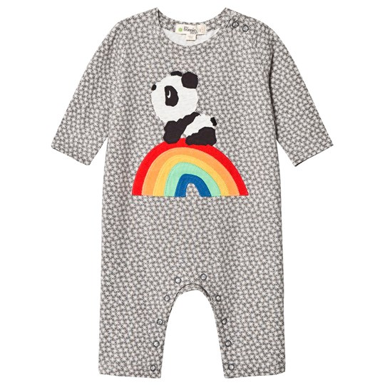 The Bonnie Mob Rainbow Panda One-Piece Hash Tag Grey Hash Tag Print Grey