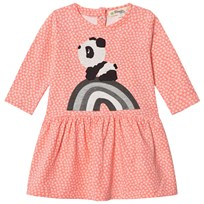 The Bonnie Mob Rainbow Panda Applique Dress Hash Tag Print Sorbet Hash Tag Print Sorbet