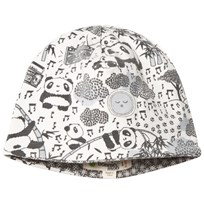 The Bonnie Mob Reversible Baby Beanie Hat, Aop Print Panda Print Grey Panda Print Grey