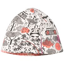 The Bonnie Mob Reversible Baby Beanie Hat, Aop Print Panda Print Pinks Panda Print Pinks