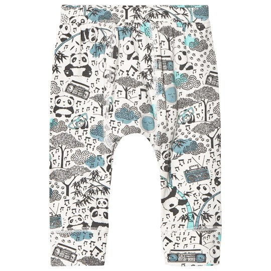 The Bonnie Mob Panda Print Baby Leggings Blue Panda Print Blues